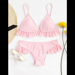 Other - Light pink ruffle bathing suit *new!